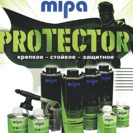 MIPA PROTECTOR 2K 3:1 Защитное покрытие повыш. прочности (черный.) (0,75+0,25л) шт. (уп./4шт.)