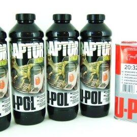 U-POL RAPTOR 2K 3:1 Защитное покрытие повыш. прочности, (колер) (компл. 4л), RLT/S4К