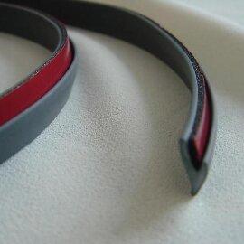 Уплотнительная резинка Серая ( для обвесов/бамперов) , метр