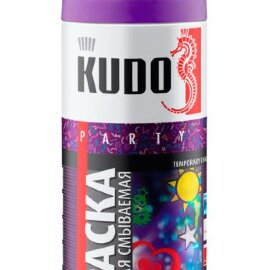 KUDO Краска-спрей меловая смываемая для в. декора (оранжевая), 0,52л., (уп/6шт), KU-P104